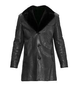 ALFREDO GALLIANO | Пальто Из Кожи Питона С Норковой Отделкой 2264sv1