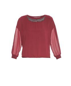 Gaudi | Блуза Из Искусственного Шелка С Бисером И Кристаллами Be-183698