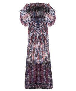 Etro   Эксклюзивное Подиумное Платье Из Итальянского Шелка Sf-157766