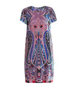 Etro   Платье Из Итальянского Шелка В Ультрамодном Boho Стиле С Графичным