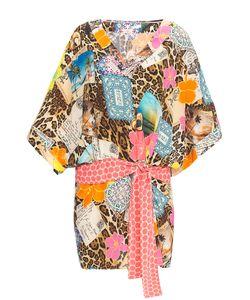 Vdp Via Delle Perle | Платье Из Шелка С Поясом Ar1-148261