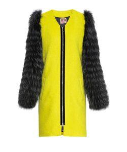 Rib Atelier | Пальто Из Шерсти С Отделкой Из Меха Енота 171315