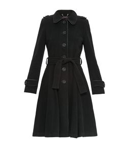 Stella Di Mare | Пальто Из Шерсти И Кашемира С Поясом 172047