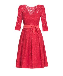Stella Di Mare | Кружевное Платье Из Вискозы С Поясом 172441