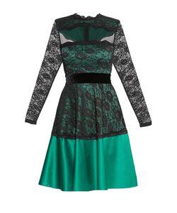 Stella Di Mare | Кружевное Платье Из Вискозы С Поясом 172440