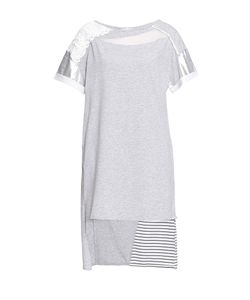 ELISA CAVALETTI   Платье-Туника Из Хлопка Декорированное Жемчугом 187147