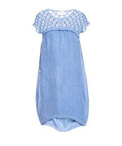 ELISA CAVALETTI   Платье Из Вискозы И Льна Со Стразами 187161