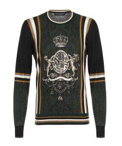 Dolce & Gabbana | Джемпер Тонкой Вязки Из Смеси Кашемира И Шелка С Шерстью Dolce