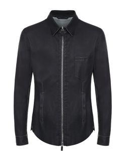 Giorgio Armani | Кожаная Куртка На Молнии С Отложным Воротником