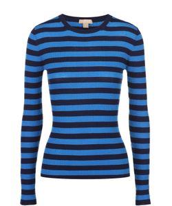 Michael Kors | Кашемировый Облегающий Пуловер В Контрастную Полоску