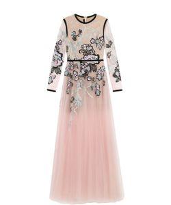 Elie Saab | Приталенное Платье-Макси С Декоративной Отделкой