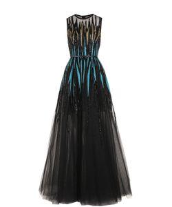 Elie Saab | Платье-Макси С Вышивкой Пайетками И Ремнем
