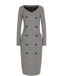 Ralph Lauren | Приталенное Шерстяное Платье С V-Образным Вырезом