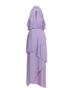 Elie Saab | Плиссированное Многоярусное Платье Асимметричного Кроя