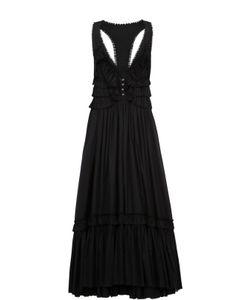 Roberto Cavalli | Платье-Макси С V-Образным Вырезом И Открытой Спиной