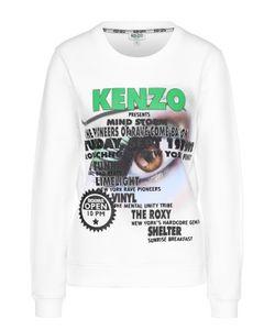 Kenzo | Свитшот Прямого Кроя С Принтом И Вышивкой