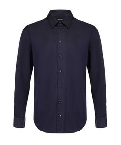 Giorgio Armani | Хлопковая Рубашка С Воротником Кент