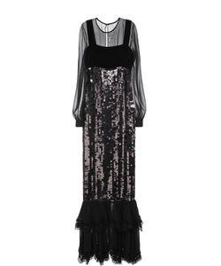 Tom Ford | Шелковое Платье С Пайетками И Оборками