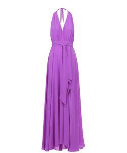 Lazul | Шелковое Платье-Макси С Высоким Разрезом И Открытой Спиной