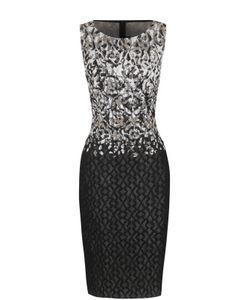 St. John | Приталенное Платье-Миди Без Рукавов