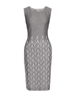 St. John | Приталенное Платье-Миди С Пайетками