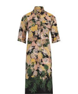 Dries Van Noten | Шелковое Платье-Рубашка С Принтом