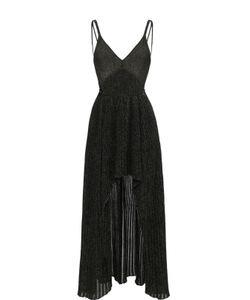 Elie Saab | Платье-Макси С Плиссированной Юбкой И Металлизированной Отделкой
