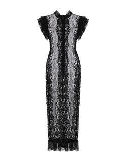 Dolce & Gabbana | Полупрозрачное Кружевное Платье С Оборками