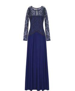 St. John | Платье-Макси С Кружевным Лифом