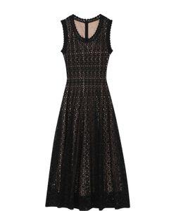 Alaïa | Приталенное Кружевное Платье-Миди