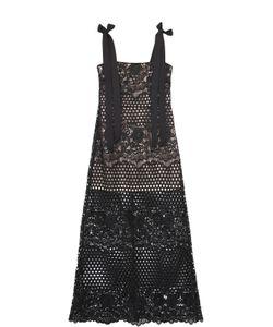 Alice McCall | Полупрозрачное Кружевное Платье-Миди С Бантами