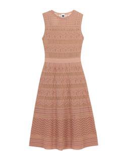 Missoni | Приталенное Вязаное Платье-Миди Без Рукавов M