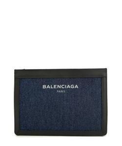 Balenciaga | Клатч Из Денима С Кожаной Отделкой