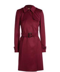 Burberry | Кашемировое Пальто С Поясом И Широкими Лацканами