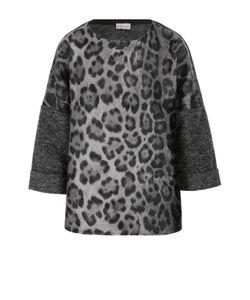 Moncler | Шерстяной Пуловер С Укороченным Рукавом И Леопардовым Принтом