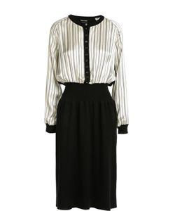 Giorgio Armani | Приталенное Платье С Длинным Рукавом И Круглым Вырезом
