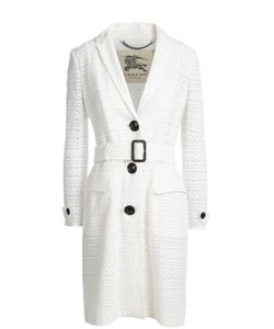 Burberry | Кружевное Пальто Прямого Кроя С Поясом