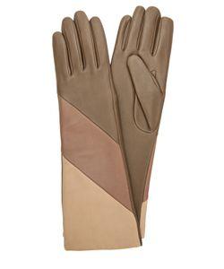 Agnelle | Удлиненные Кожаные Перчатки С Подкладкой Из Шерсти