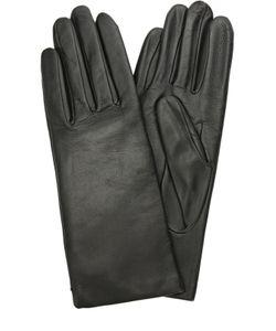 Agnelle | Кожаные Перчатки С Подкладкой Из Кашемира И Шерсти