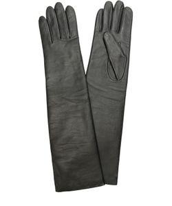 Agnelle | Удлиненные Кожаные Перчатки С Отделкой Из Шерсти