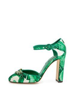 Dolce & Gabbana | Шелковые Туфли Vally С Декором