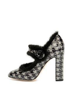 Dolce & Gabbana | Кожаные Туфли Vally С Меховой Отделкой