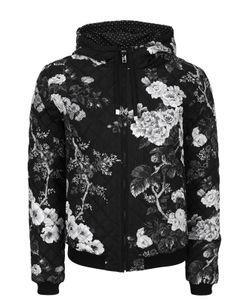 Dolce & Gabbana | Стеганый Бомбер С Принтом И Капюшоном
