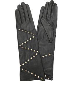 Agnelle | Кожаные Перчатки С Заклепками