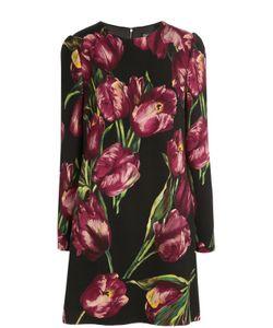 Dolce & Gabbana | Мини-Платье С Длинным Рукавом И Цветочным Принтом