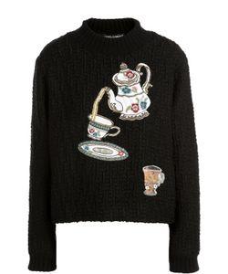 Dolce & Gabbana | Пуловер Фактурной Вязки С Вышивкой Пайетками