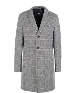 BOSS | Однобортное Пальто В Клетку Prince Of Wales С Добавлением Шерсти Hugo