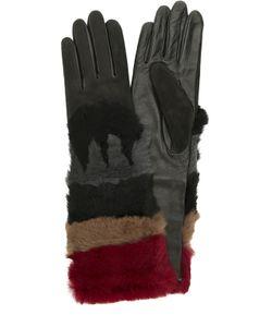 Agnelle | Кожаные Перчатки С Отделкой Из Меха Кролика И Замши