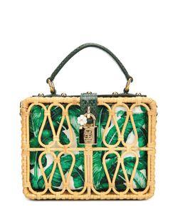Dolce & Gabbana | Плетеная Сумка Dolce Box С Кожаной Отделкой