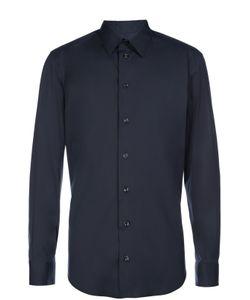 Armani Collezioni | Рубашка Из Эластичного Хлопка С Воротником Кент